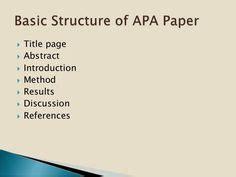 Apa format references thesis